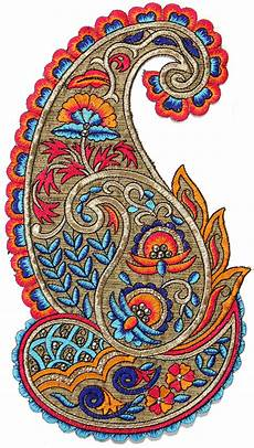 Paisley Design Images Large Embroidered Paisley Patch With Sequins