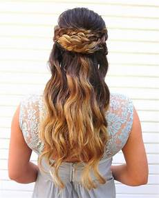 27 prettiest half up half prom hairstyles for 2020