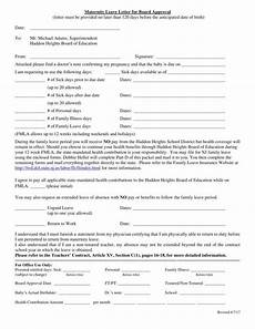 Notice For Maternity Leave Letter 8 Maternity Leave Letter Templates Pdf Word Free