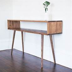 mid century inspired sofa table entry table made to order