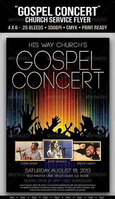 Free Concert Flyer Templates Gospel Concert Lights Flyer Template On Behance