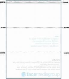 A4 Calendar Template A4 Tri Fold Desk Calendar Template A4 Template With 3