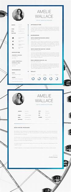 Cover Letter And Cv Resume Template For Word Printable Cv For Word High