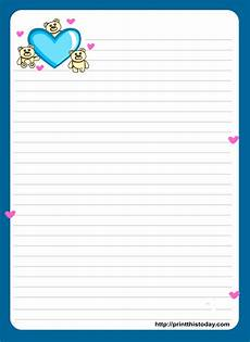 Letter Writing Paper Template Love Letter Pad Stationery