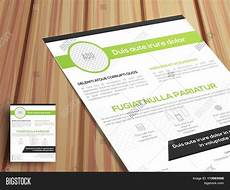 One Page Flyer One Page Business Flyer Pamphlet Vector Amp Photo Bigstock