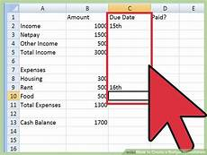 How To Make A Household Budget Spreadsheet How To Create A Budget Spreadsheet With Pictures Wikihow