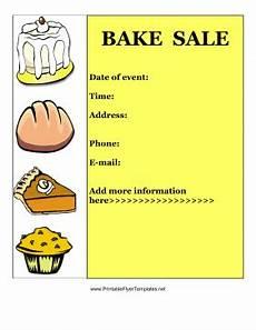 Bake Sale Template Word Bake Sale Flyer