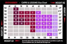 Ladies Height And Weight Chart Women S Capri Sizing War Hammer
