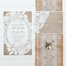 Lace Wedding Invitation Burlap And Lace Wedding Invitation Suite Custom Invites