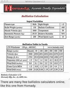 Bullet Ballistic Coefficient Chart How To Read A Ballistics Chart