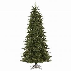 7 5 Slim Christmas Tree With Led Lights Vickerman Camdon Fir 7 5 Green Artificial Slim Christmas