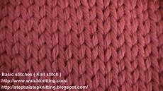 knit basics 187 tutorial 2 knit stitch