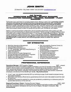 National Operations Manager Resume A Professional Resume Template For An Operations Manager