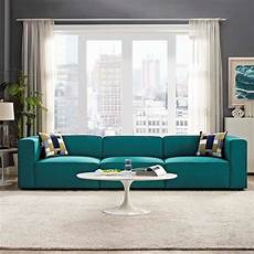 Teal Sofa Table 3d Image by Mingle 3 Upholstered Fabric Sectional Sofa Set In