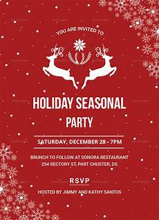 Holiday Party Invitations Template Festive Holiday Party Invitation Design Template In Psd