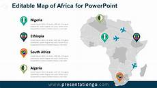 Map Powerpoint Africa Editable Powerpoint Map Presentationgo Com
