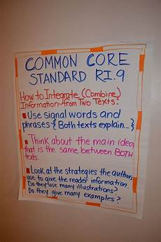 Common Core Anchor Charts 14 Best Ri 4 9 Integrate Two Texts Images On Pinterest
