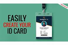 How To Make A Id Card Id Card Design In Photoshop Tutorial Free Id Card