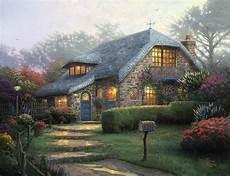 kinkade cottage painting lilac cottage limited edition canvas kinkade