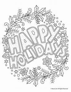 Malvorlagen Urlaub Kostenlos Happy Holidays Coloring Freebie Woo Jr