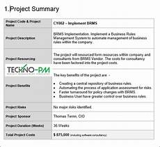 Project Summary Template Project Proposal Template Word Template Project