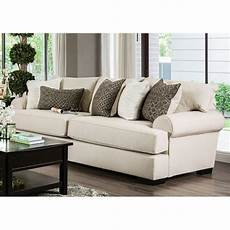 furniture of america mirella transitional sofa in beige
