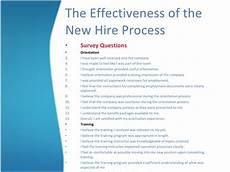 New Hire Orientation Surveys The Effectivenes Of The New Hire Process