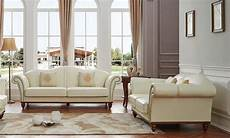 Italian Sofa Sets For Living Room 3d Image by Esf 2601 Ivory Italian Leather Living Room Sofa Set 2pcs