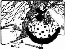 Black And White Christmas Graphics Vintage Christmas Lady With Birds Image The Graphics Fairy