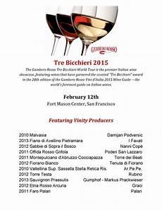 gambero rosso tre bicchieri gambero rosso s tre bicchieri 2015 feb 12 vinity wine