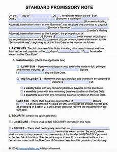 Secured Promissory Note Template Word Free Promissory Note Template Adobe Pdf Amp Microsoft Word