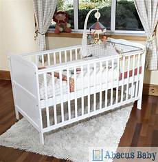 new baby white cot bed with sprung mattress cotbed nursery