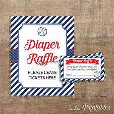 Raffle Ticket Signs Baseball Diaper Raffle Sign Amp Tickets Red White And Blue
