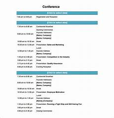 Programme Itinerary Template 12 Conference Schedule Templates Word Pdf Free