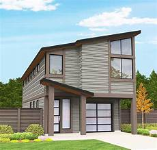 modern narrow lot house plan 85101ms architectural