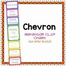 Chevron Behavior Clip Chart Behavior Clip Chart Behavior Management Chevron By Amy
