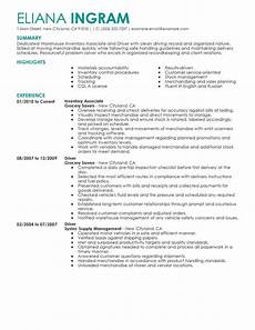 Inventory Skills Resumes Best Inventory Associate And Driver Resume Example