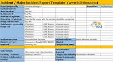 Project Management Incident Report Template Incident Report Template Major Incident Management