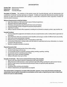 Administrative Assistant Duties For Resume Administrative Assistant Duties Resume Newest