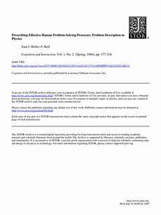Human Problem Pdf Prescribing Effective Human Problem Solving