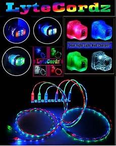 Wireless Phone Charger Light Up Led Light Up Charging Charger Cable Usb Cord Iphone