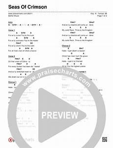 At The Cross Chord Chart Seas Of Crimson Chord Chart Editable Bethel Music
