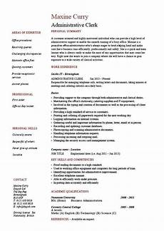 Clerical Resume Template Administrative Clerk Resume Clerical Sample Template