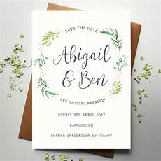 Wedding Save The Date And Invitations Botanical Wedding Save The Date By Rodo Creative