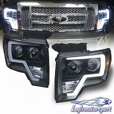 Aftermarket Headlights And Lights For Trucks 2009 2014 Ford F 150 Pickup Truck Led Tube Bar Black