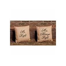 primitives by kathy mr and mrs right pillow