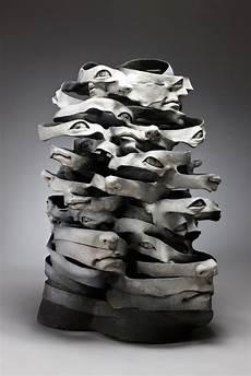 Ceramic Sculpture Artists Surreal Ceramic Sculptures That Look Like Unraveling Ribbons