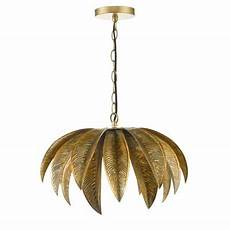 Palm Leaf Light Shade Home Collection Gold Palm Leaf Cara Pendant Ceiling