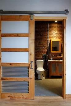 bathroom closet door ideas 8 rustic bathroom designs with sliding barn doors https