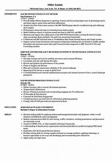 Sap Consultant Resume Sap Business Consultant Resume Samples Velvet Jobs
